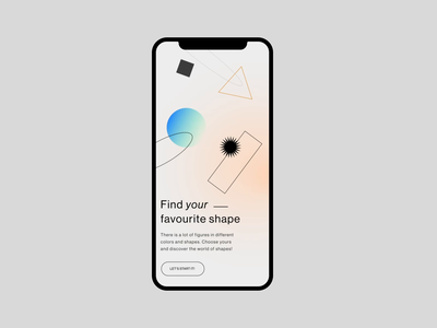 Just Figures Shop funny forfun store app animation online store minimalistic ui  ux