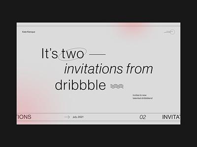 2 Dribbble Invites Giveaway invites member gift giveaway dribbble invite minimalistic main page ui  ux
