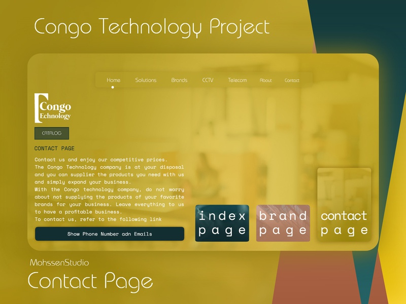 Congo Technology Project | Contact Page website design xd design ui photoshop website joomla logodesign ux webdesign design