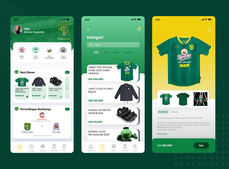 Persebaya Store Mobile Apps Redesign