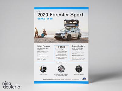 Subaru Forester Sport Advertisement Layout Design print design layoutdesign layout marketing campaign marketing subaru advertisement design branding design