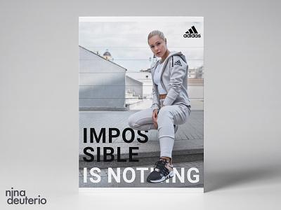 Adidas Advertisement Layout Design typography adidas print design marketing campaign marketing layout layoutdesign design branding advertisement design
