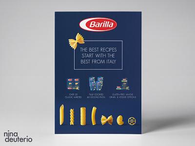 Barilla Pasta Advertisement Layout Design italian pasta print design marketing campaign marketing layoutdesign layout design branding advertisement design