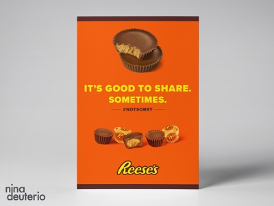 Reese's Chocolate Candy Advertisement Layout Design chocolate reeses candy typography print design marketing campaign marketing layoutdesign layout design branding advertisement design