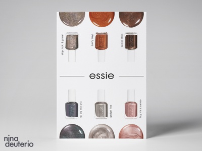Essie Nail Polish Advertisement Layout Design nail polish nail salon grid layout grid design grid typography print design marketing campaign marketing layoutdesign layout design branding advertisement design