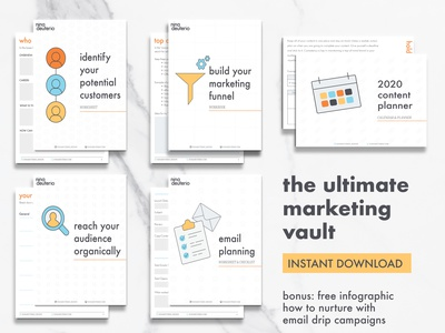 The Ultimate Marketing Vault - Instant Download print design layout layoutdesign design marketing collateral email planning email marketing email strategy content strategy content creation marketingfunnel niche download marketing marketing campaign