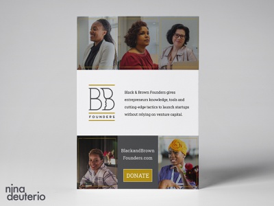 Black and Brown Founders Organization nonprofit print design layout design layoutdesign blacklivesmatter blm