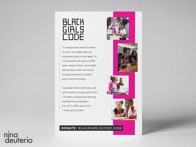 Black Girls CODE Organization print design layoutdesign layout design nonprofit blacklivesmatter blm
