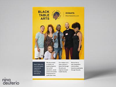 Black Table Arts  Organization grid layout grid design typography print design layoutdesign layout design nonprofit blacklivesmatter blm