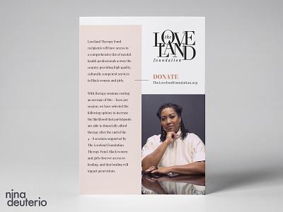 The Loveland Foundation Organization print design layoutdesign layout design blacklivesmatter blm nonprofit