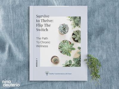 Workbook Design | Course Content | Survive The Thrive holistic health course material course workbook marketing layoutdesign layout design