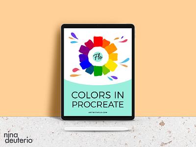 Colors in Procreate | eBook | Lead Magnet procreate marketing layoutdesign layout design lead magnet