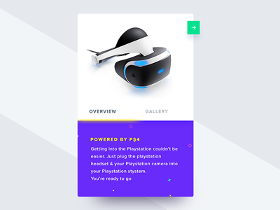 VR Card - PSD ui kit psd web app freebie summary mobile virtual purple scroll minimal card web vr