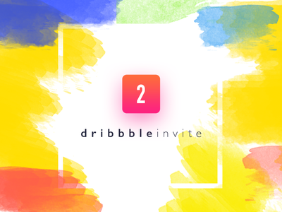Dribbble Invitation portfolio works freebie two letter invitation dribbble