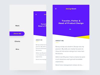 Portfolio_Mobile Responsive responsive concept minimal personal ios mobile branding portfolio