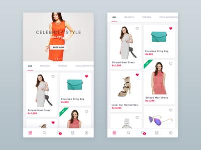 Fashion Shopping App minimal shop e-commerce ecommerce clothes fashion cart ios shopping