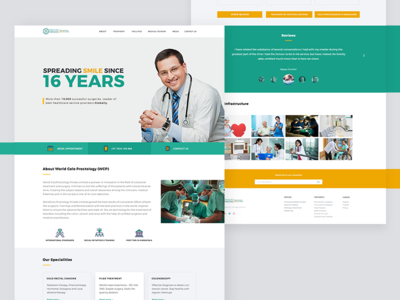 Hospital landing page neat white one page branding medical concepts website web minimal landing page hospital