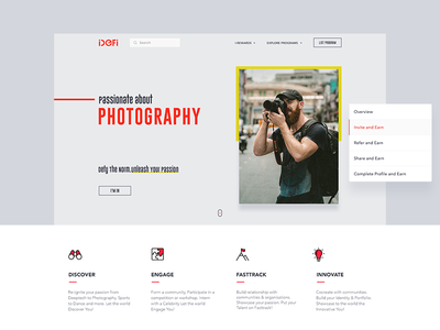 Landing page one page photography cards web white landing page website minimal