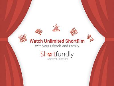 Shortfundly Launch branding design moviebuff shortfilm shortfundly
