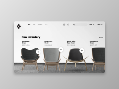 🪑Furniture Web Store Design