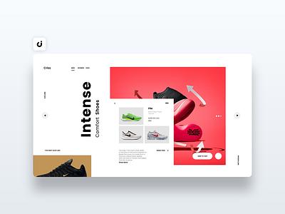 👟 Nike Website Design dev infadev follow like hire designer web site adobe xd ux ui website design