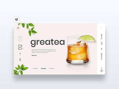 🥤 Greatea Website Design dev infadev follow like hire designer web site adobe xd ux ui website design