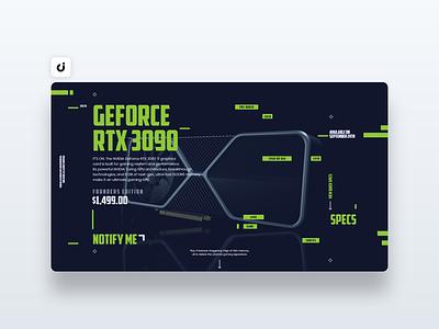 💿 Nvidia Web Design hire follow like ecommerce designer site infadev concept website design