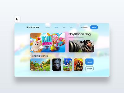 🕹 PlayStation Website Design hire follow like ecommerce designer site infadev concept website design