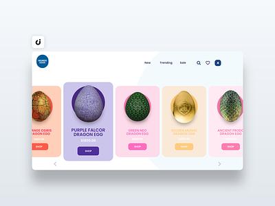 🥚 Egg Store Web Design hire follow like ecommerce designer site infadev concept website design