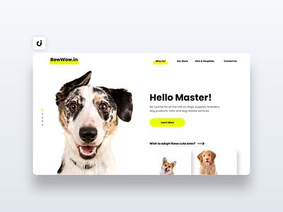🐶 Dog Adoption Web Design hire follow like ecommerce designer site infadev concept website design