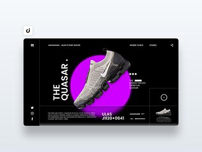 👟 Nike Website Design hire follow like ecommerce designer site infadev concept website design