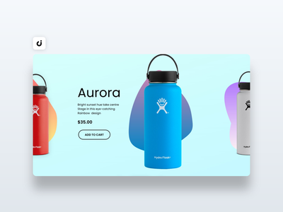 🍼  Hydro Flask Website Design hire follow like ecommerce designer site infadev concept website design