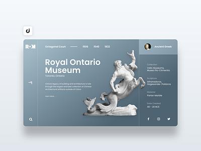 🦖 Museum Website Design hire follow like ecommerce designer site infadev concept website design
