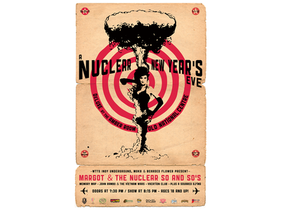 Margot & The Nuclear So and So's Event poster vector illustration design