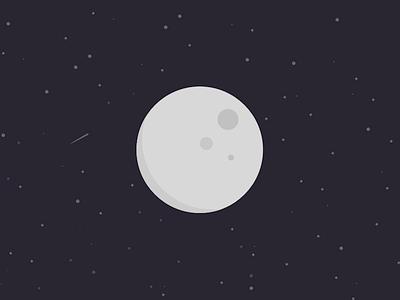 Flat Moon moon space sketch flat