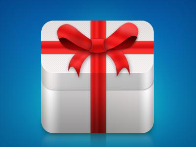 Gift box icon icon gift box iphone ios bow ribbon