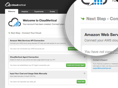 CloudVertical - Next Step interface ui web app light css