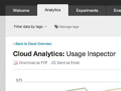 CloudVertical Web Interface tabs header application interface analytics ui