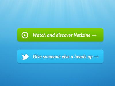 Netizine Buttons ui ux interface web button menu