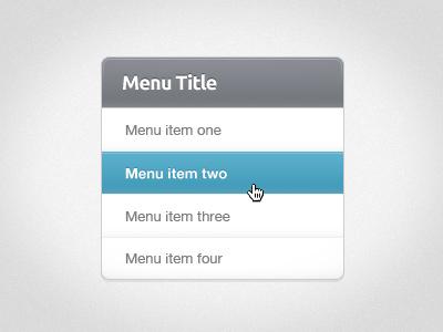 Menu Style menu ui ux button navigation sidebar nav