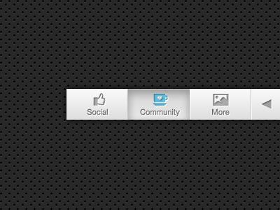 Updated Menu Style ui ux button menu navigation icons blue app ipad rebound interface clean