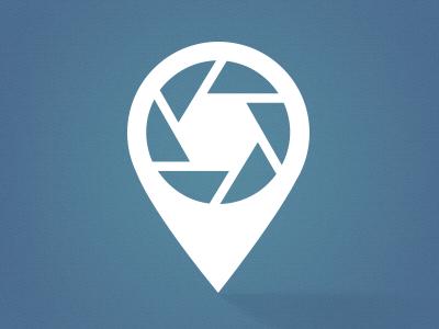 Logo concept icon camera shutter symbol