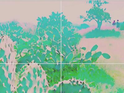 Pastel : cactus