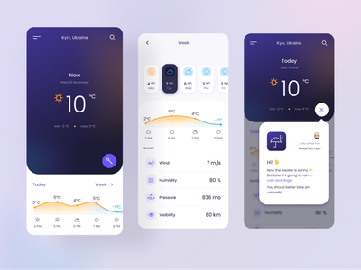 Weather App concept ui design uiux clean ios mobile apps weather app mobile app mobile ui