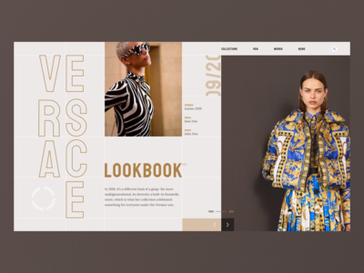 Versace Lookbook Concept