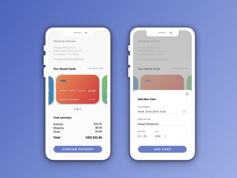 Daily UI 002 - Credit Card Check out dribbble credit card checkout credit card daily ui challenge daily ui 002 002 ui daily ui