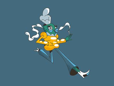 Fishgirl 🐟 comic art girl comic inspiration character design photoshop character styleframe illustration