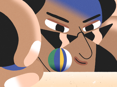 Beach day! recent beach ball beach design styleframe photoshop character design character illustration