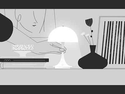 LP - Panthella Portable short film recent gif motion graphic design inspiration hand lamp animation 2d mograph video