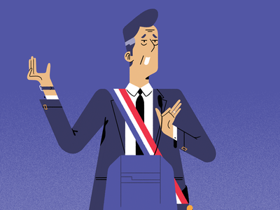 French politician politician magazine editorial photoshop character illustration